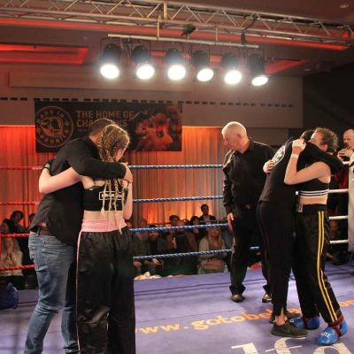 it was his all round after a hard fought fight between - Grace Goody (Belfast, NI) Vs Jade Molloy (Wolfpack, Athlone ROI)