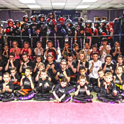Here's our Kids class every Saturday at the ProKick Gym