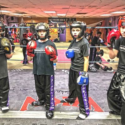 Ring time for the new ProKick Kids Sparring Jan 12th 2018
