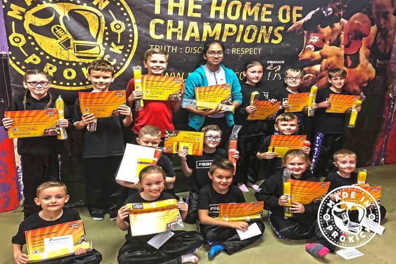 Sunday 30th September 2018 saw a few of the ProKick Kids graduate by moving up a level on the kickboxing ladder of excellence.