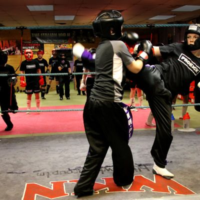 Joseph & Riley in sparring action