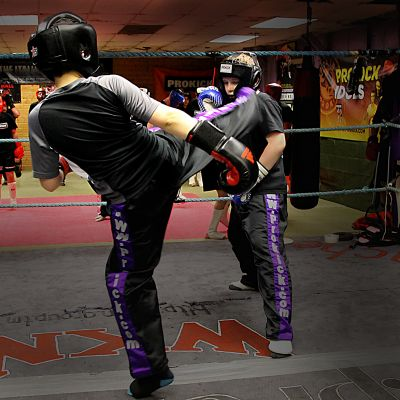 sparring action with Joseph & Riley