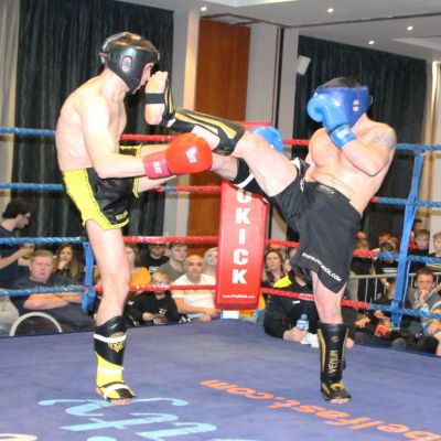 First timers meet in the ring - Novice Low Kick Style with Martin Carson (Belfast, NI) Vs David McCormack (WINNER POINTS) (Wolfpack, Athlone)