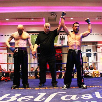 Matthew Kerr lost on points to Thomas Poullain (Switzerland) at the Stormont hotel