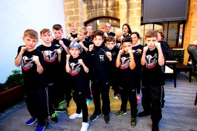 ProKick young Peacefighters from Belfast's ProKick Gym in Northern Ireland