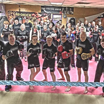 Prokick fight team at the last sparring session
