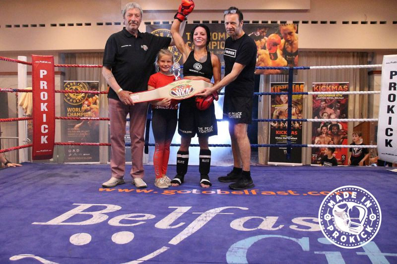 Belter Rowena Bolt adds a new belt to the collection the WKN International Flyweight crown.