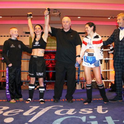 Rowena lived up to her 'Lightning Bolt' name and picked up the pace to gain the victory over Italian Maura Scano at the Stormont hotel in Belfast.