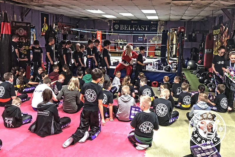 Santa will visit the ProKick Kids Class TODAY Dec 22nd in 2017