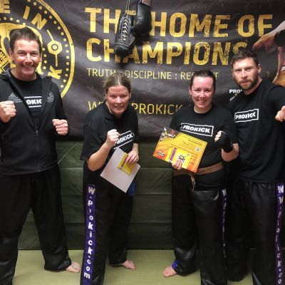 Senior ProKick Grades Louise Conlon & Ruth Anderson move up the ladder and get closer to the prestigious BLACK BELT