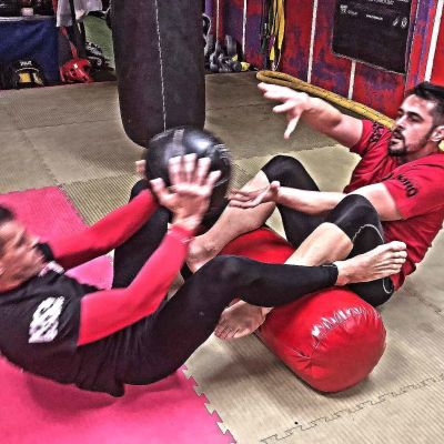 Hard work pays off - Rafa Del Toro & his coach Tony Lopez were back at the ProKick Gym in Belfast