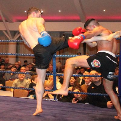 Action from Johnny Smith WINNER (Bangor, NI) Vs Christos Venizelou (Cyprus) At the Stormont Hotel Saturday 23rd Feb 2019