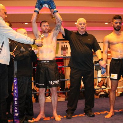 The winner is Johnny Swift Smith after facing Christos Venizelou (Cyprus) At the Stormont Hotel Saturday 23rd Feb 2019