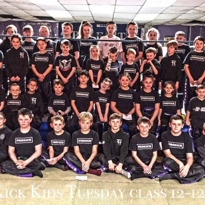 Tuesday Kids Class at the ProKick Gym in Belfast on the 12th Dec 2017
