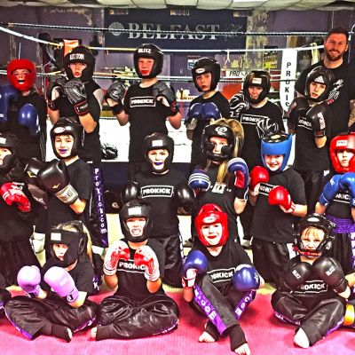 Week 2 New Kids kickboxing Sparring course