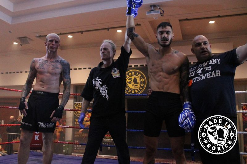 Winner as the Ref stopped the fight in the first round Nikolas Konstantinos (Cyprus) at the Stormont hotel on saturday 30th June
